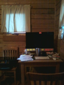 computer in cabin